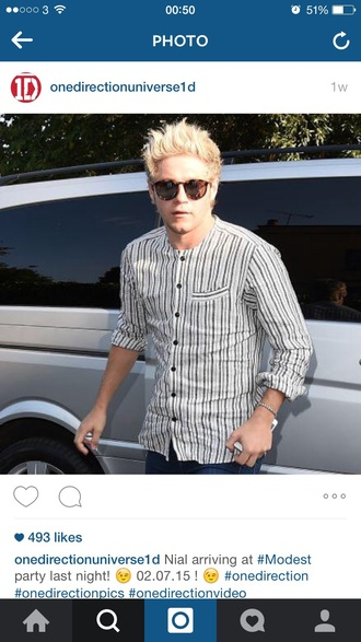 shirt niall horan striped shirt menswear