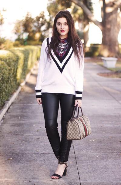 carly maddox blogger shirt sweater pants shoes bag jewels