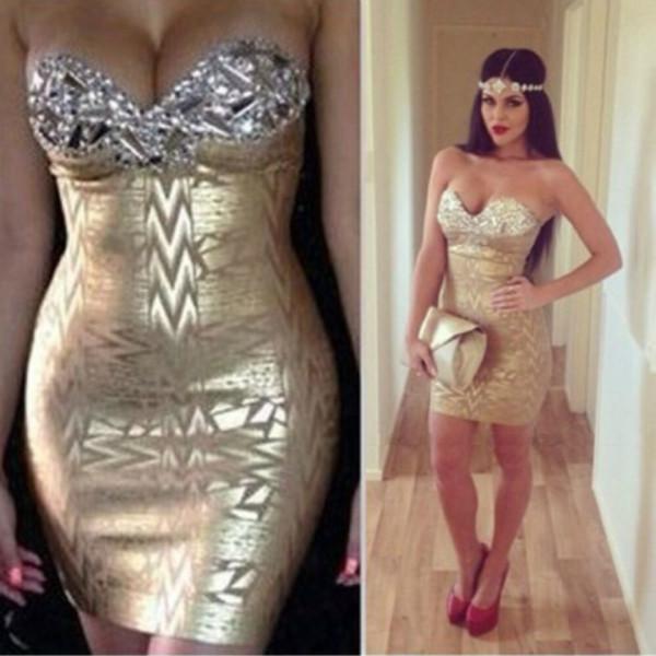 Dress: Pattern, Patterned Dress, Strapless, Strapless