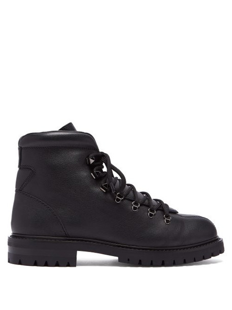 Valentino - Leather Ankle Boots - Womens - Black