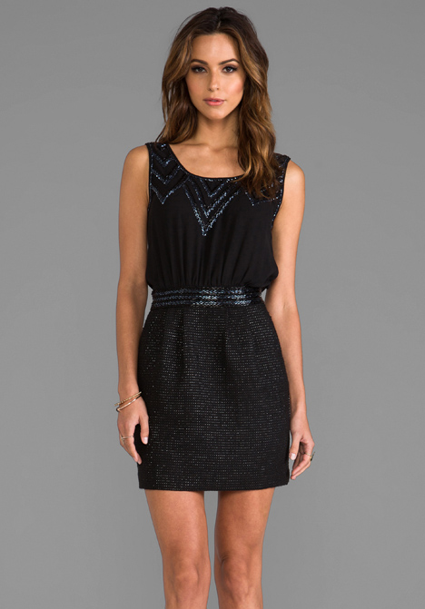 GREYLIN Zelda Embellished Tank Dress in Black - Dresses