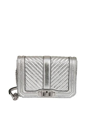 quilted bag shoulder bag silver