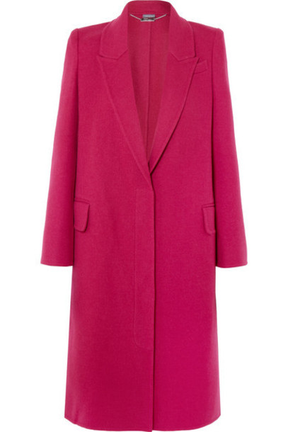 Alexander McQueen - Wool And Cashmere-blend Coat - Pink