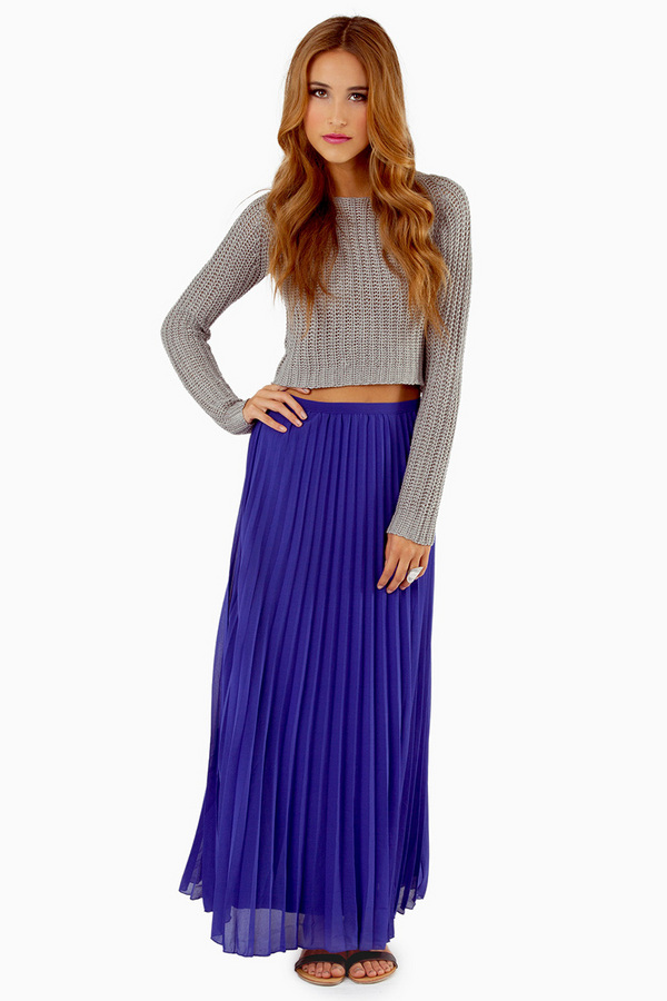 Lost In Folds Maxi Skirt - Tobi