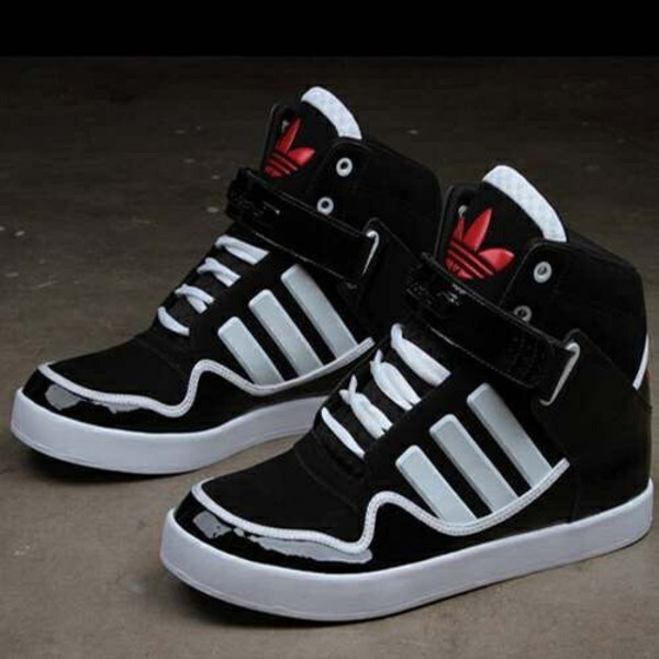 adidas shoes, dope, sneakers, black and white, swag ...