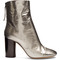 Grover crinkle patent-leather ankle boots