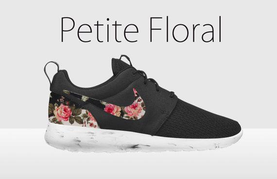 Floral Nike Roshe Run, Black and White