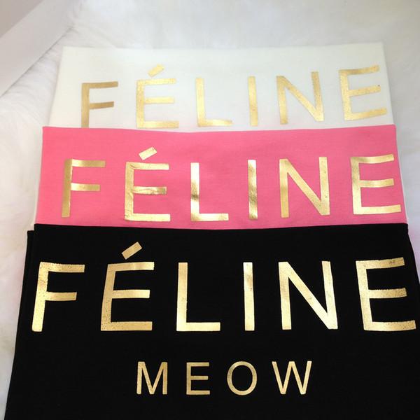 t-shirt top blouse gold feline meow feline white shirt feline black shirt white shirt tumblr tumblr girl tumblr shirt