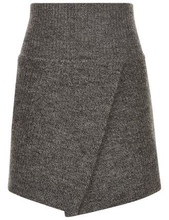 skirt mini skirt mini grey
