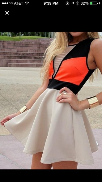 dress skater dress coral homecoming nude mesh top mesh dress