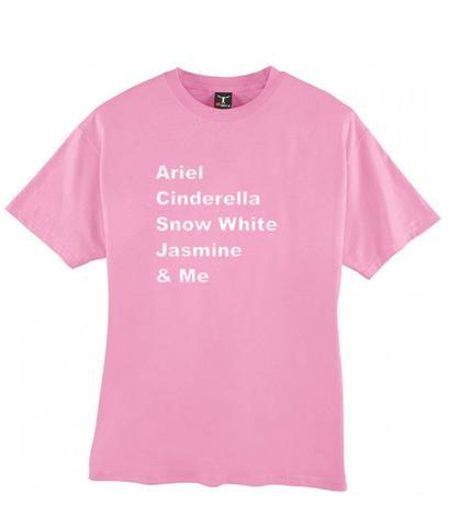 Ariel Cinderella Snow White Jasmine & Me tshirt