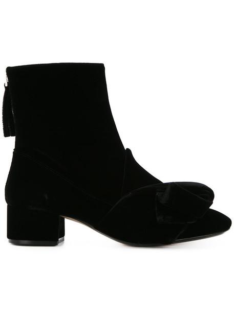 No21 velvet ankle boots women ankle boots leather black velvet shoes