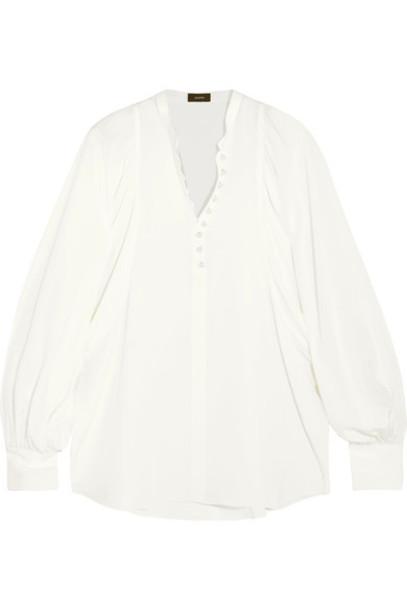 Joseph blouse embellished silk cream top