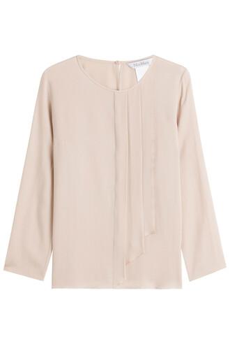 blouse silk rose top