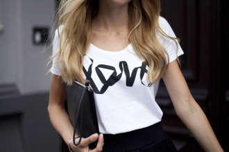 shirt white white t-shirt love outfit tumblr style tshirt.