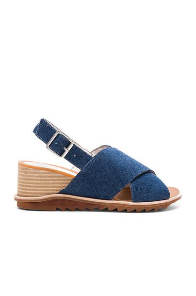 Jeffrey Campbell Sardis Sandal in blue