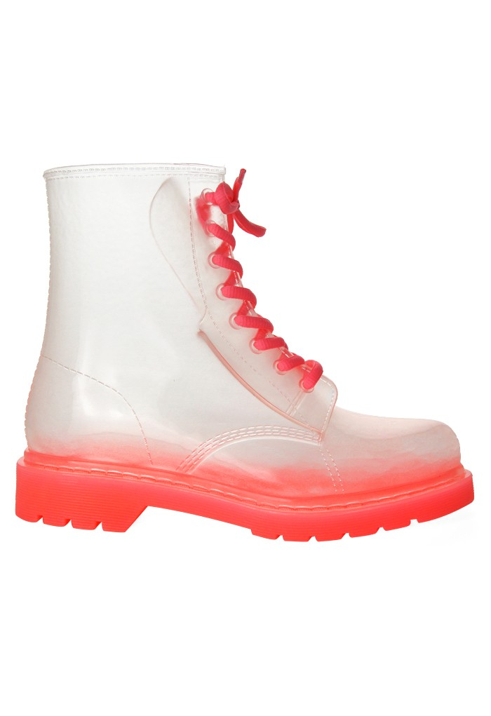 Pink Rubber 8-Eye Classic Rain Boot - Retro, Indie and Unique Fashion