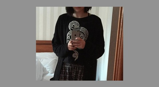 shirt grunge black snake serpent monki hipster t-shirt alternative tumblr cardigan dark t-shirt