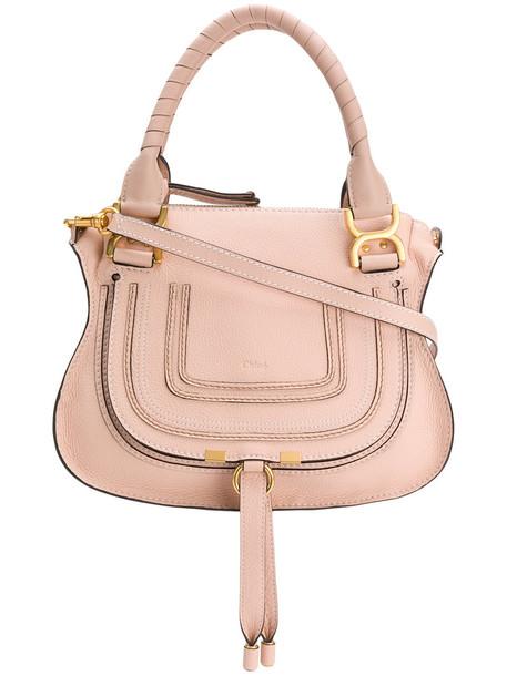 Chloe women bag shoulder bag leather cotton purple pink