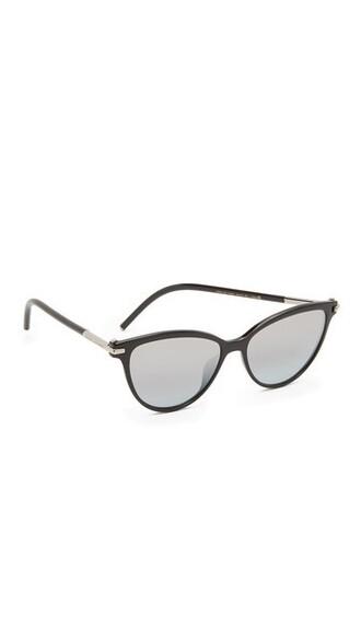 shiny sunglasses black brown