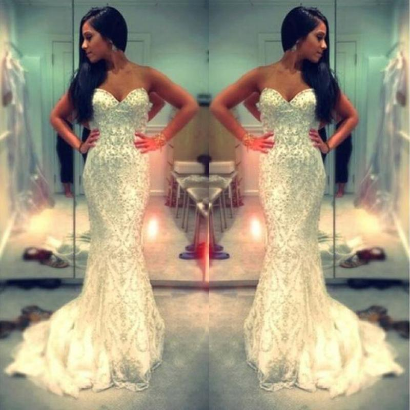 Pictures of beaded mermaid prom dresses