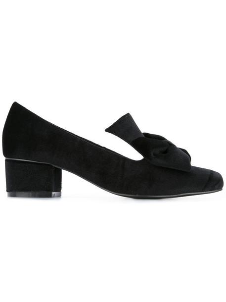 women love lady pumps leather black velvet shoes