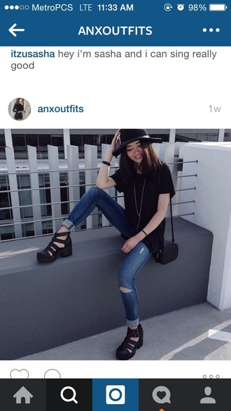 shoes platform boots black ankle boots boots with cutouts gladiators chunky shoes 90s style black platforms