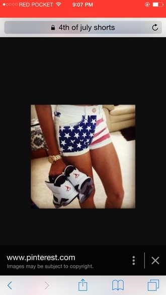 shorts denim shorts jeans american flag shorts jordans shoes
