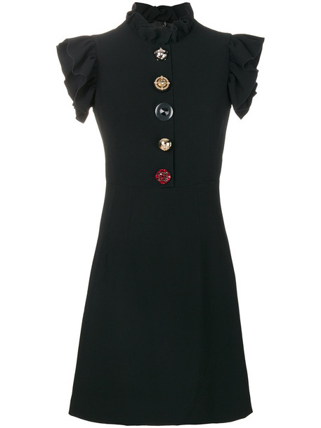 Dolce & Gabbana dress women spandex black silk