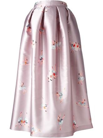 skirt print purple pink