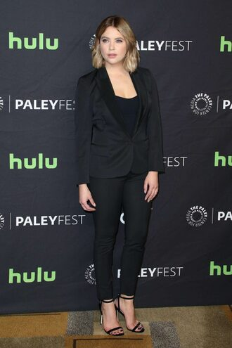 pants suit all black everything ashley benson pretty little liars top