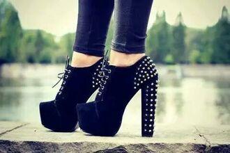 shoes black heels litas