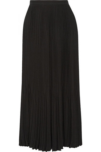 skirt midi skirt pleated midi black