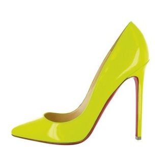 shoes yellow high heels