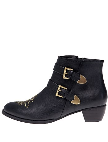 Boots brides et clous femme