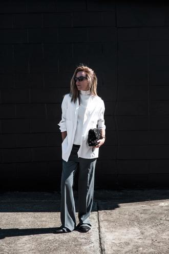 oracle fox blogger shirt top pants bag shoes sunglasses