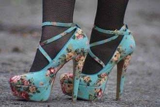 shoes simple minds office floral textile heels