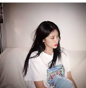 shirt ulzzang korean fashion korean style kfashion k-pop k-drama casual t-shirt asian