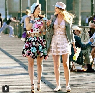 dress blake lively gossip girl serena van der woodsen hat