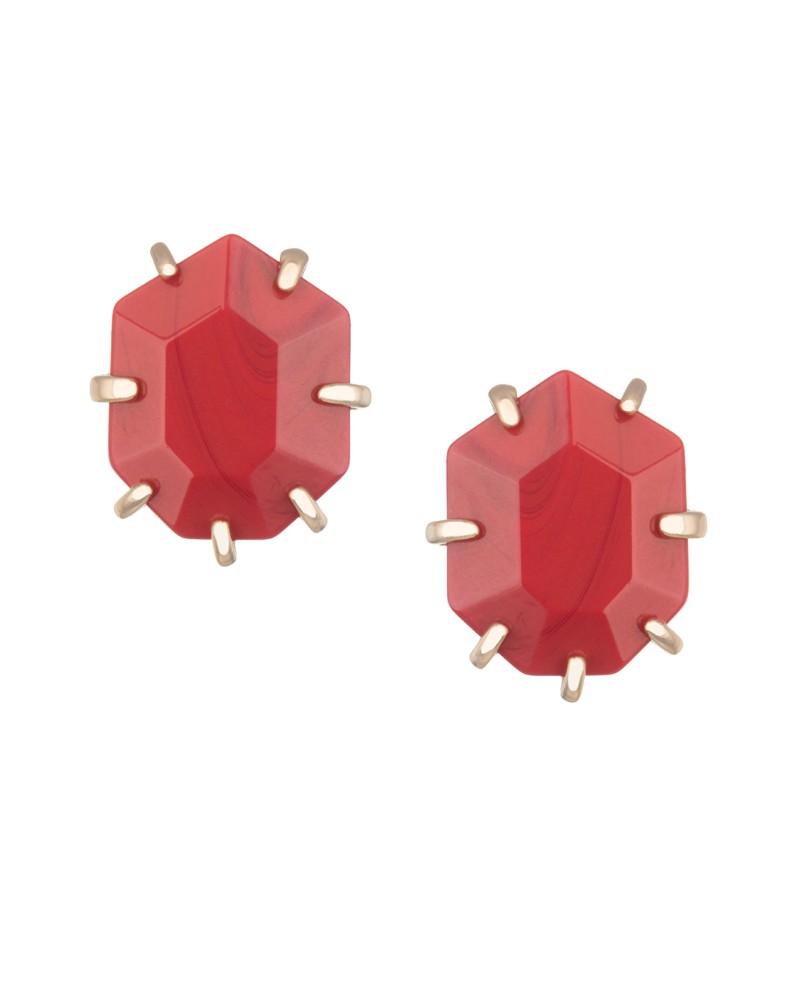 Morgan Stud Earrings in Dark Red - Kendra Scott Jewelry