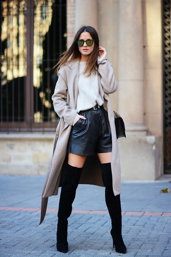 fashion vibe bag shoes coat sunglasses shorts belt jewels sweater