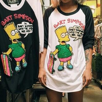 shirt bart simpson t-shirt embroidered