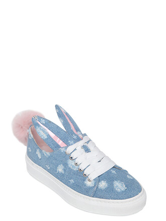 denim bunny sneakers blue shoes