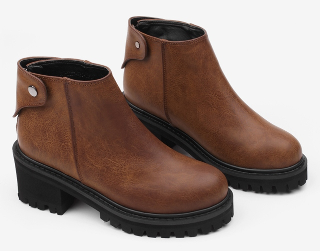 Brown Leather Boots Shoes