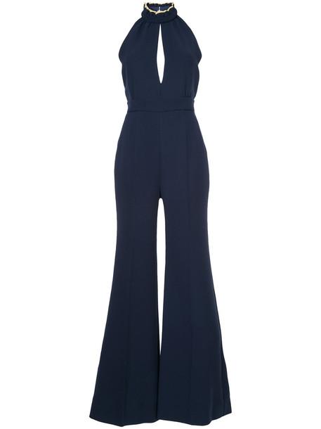 Roksanda jumpsuit women blue silk