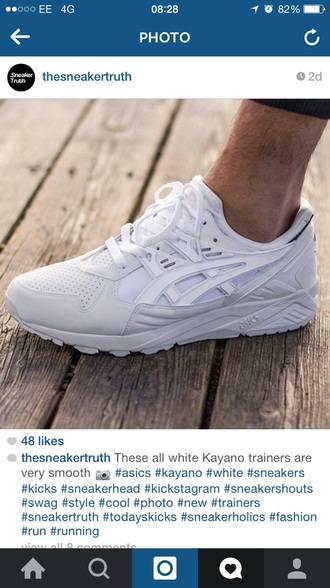shoes white asics kayano trainers sneakers