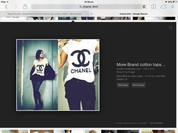 t-shirt chanel chanel t-shirt black and white