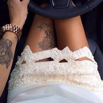 skirt glitter dress wow tattoo amazing beige
