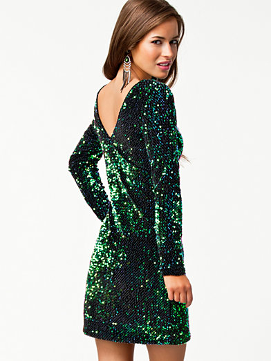 Gabby Dress - Motel - Green Irredescant - Party Dresses - Clothing - Women - Nelly.com Uk