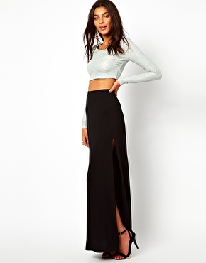 Lipsy | Lipsy Maxi Skirt with Split Detail at ASOS